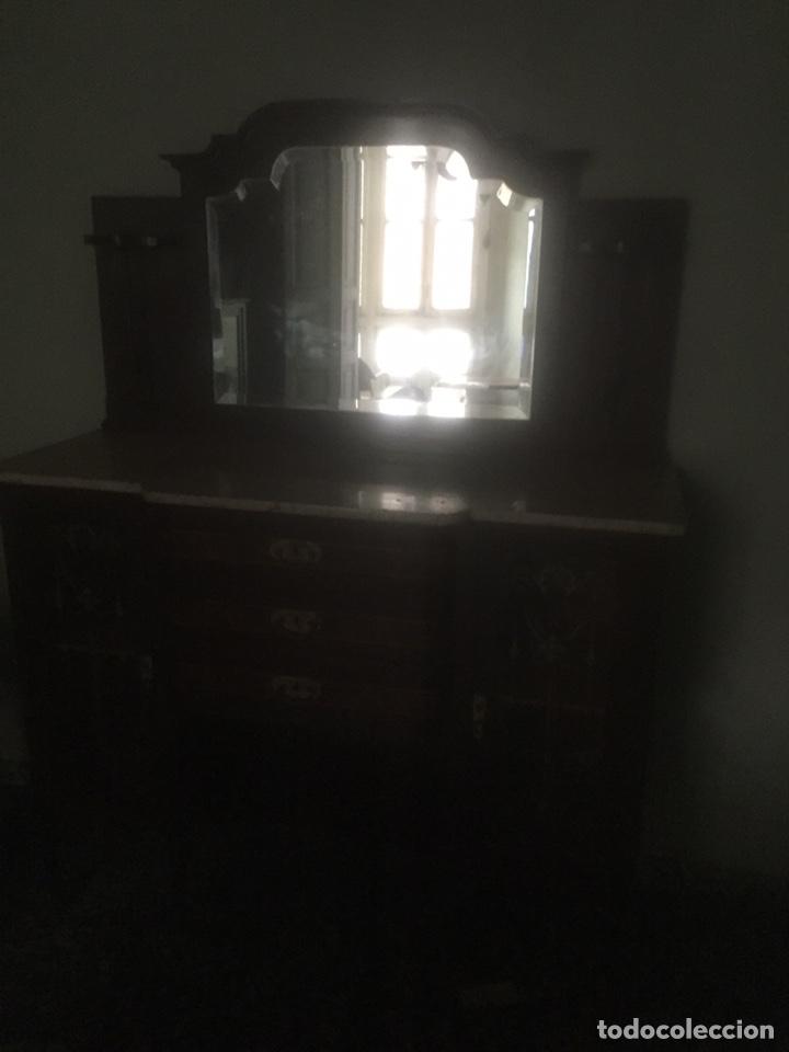 Antigüedades: Nouveau trinchador+aparador+mesa+recibidor +habitación nouveau - Foto 18 - 204484631