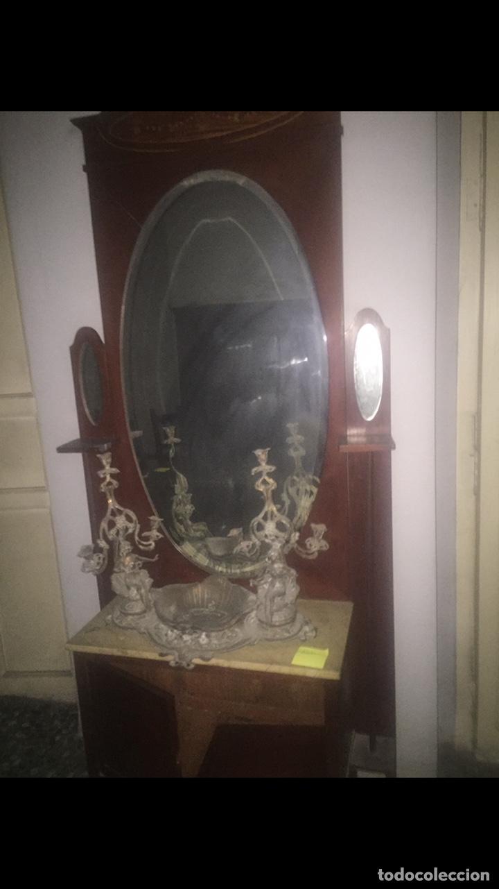 Antigüedades: Nouveau trinchador+aparador+mesa+recibidor +habitación nouveau - Foto 22 - 204484631