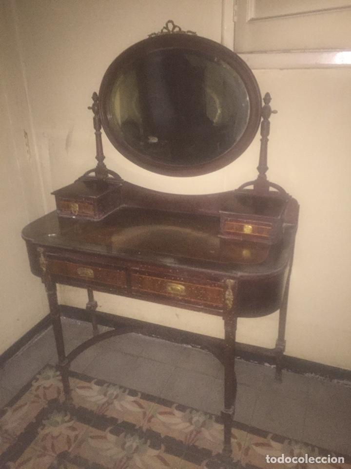 Antigüedades: Nouveau trinchador+aparador+mesa+recibidor +habitación nouveau - Foto 25 - 204484631