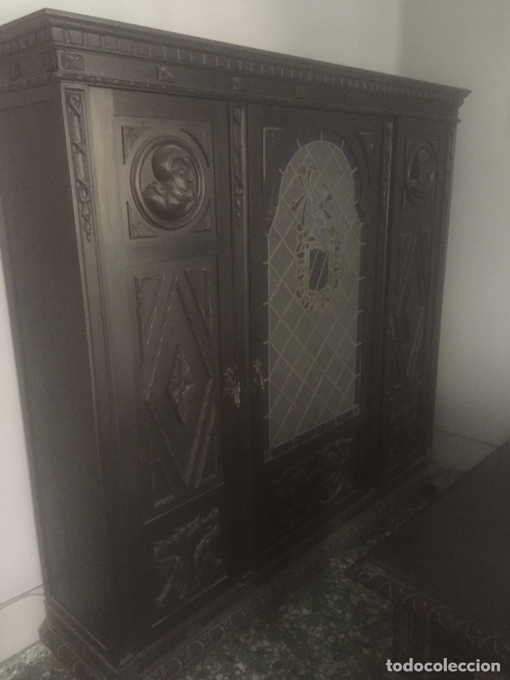 Antigüedades: Despacho+Recibidor con dos sillones estilo renacentista - Foto 5 - 204485271