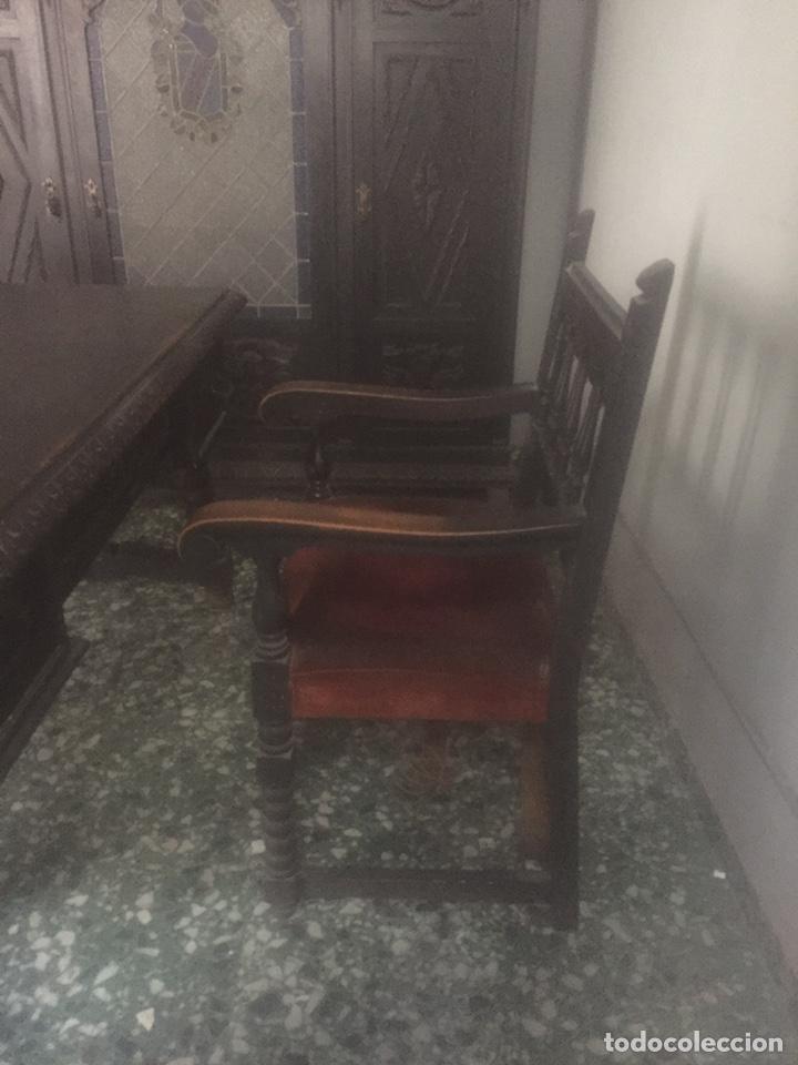 Antigüedades: Despacho+Recibidor con dos sillones estilo renacentista - Foto 6 - 204485271