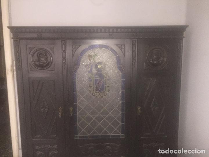 Antigüedades: Despacho+Recibidor con dos sillones estilo renacentista - Foto 7 - 204485271