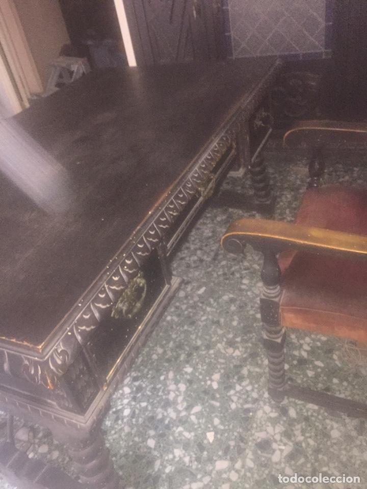 Antigüedades: Despacho+Recibidor con dos sillones estilo renacentista - Foto 8 - 204485271