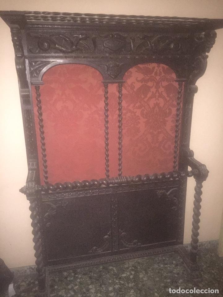 DESPACHO+RECIBIDOR CON DOS SILLONES ESTILO RENACENTISTA (Antigüedades - Muebles Antiguos - Mesas de Despacho Antiguos)