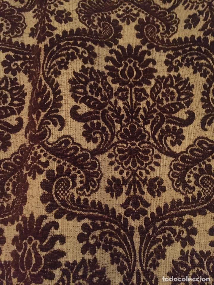 Antigüedades: Antigua cortina,la gotera de arriba no está - Foto 2 - 204485510