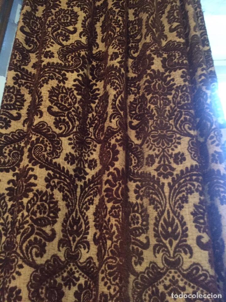 Antigüedades: Antigua cortina,la gotera de arriba no está - Foto 4 - 204485510