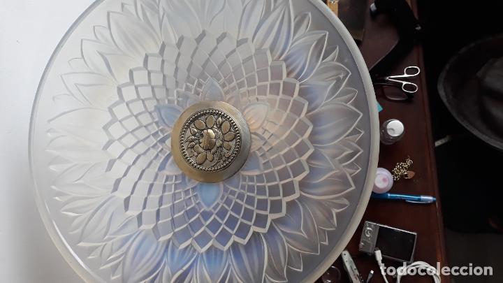 Antigüedades: centro de mesa en cristal tipo lalique ,atr-deco sobre 1930 - Foto 5 - 204500752