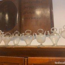 Antigüedades: COLECCION DE CRISTAL SOPLADO CÀNTIRS VIDRE BUFAT CATALUNYA. Lote 204511278