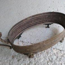 Antigüedades: JARDINERA MODERNISTA EN METAL PLATEADO, CENTRO DE MESA FALTA PARTE DE CRISTAL. Lote 254162615