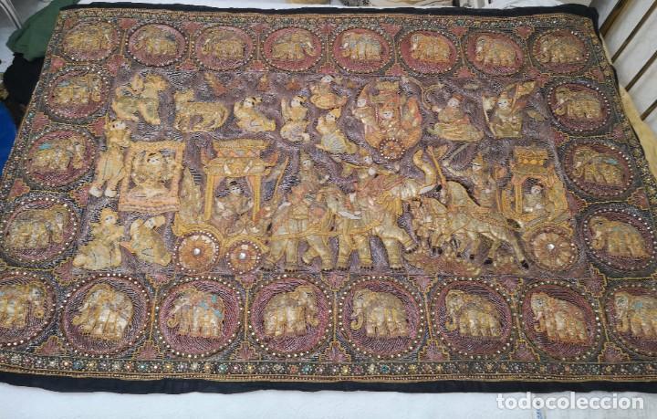 GRAN TAPIZ INDIA, MAHARAJÁS (Antigüedades - Hogar y Decoración - Tapices Antiguos)