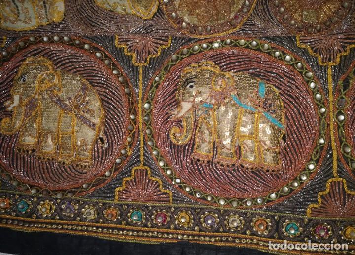 Antigüedades: Gran tapiz india, maharajás - Foto 2 - 204534281