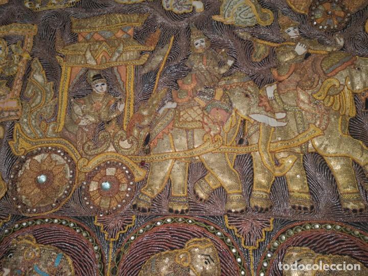 Antigüedades: Gran tapiz india, maharajás - Foto 3 - 204534281