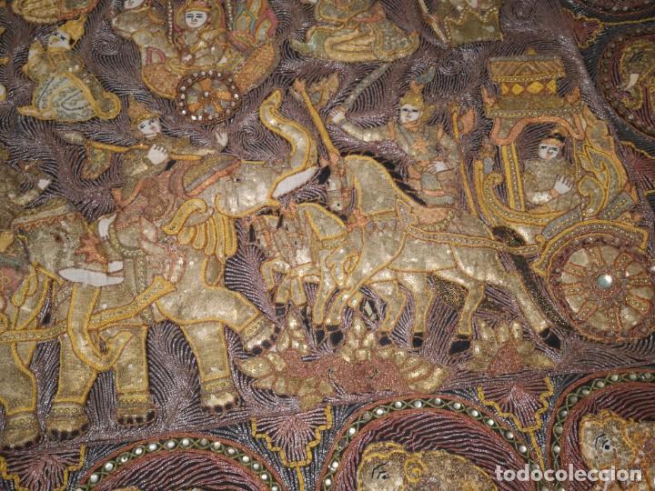 Antigüedades: Gran tapiz india, maharajás - Foto 5 - 204534281