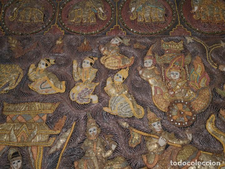 Antigüedades: Gran tapiz india, maharajás - Foto 7 - 204534281