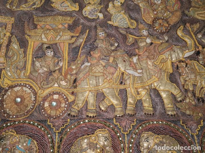 Antigüedades: Gran tapiz india, maharajás - Foto 10 - 204534281
