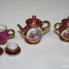 Antigüedades: LOTE MINIATURAS LIMOGES FRANCE JUEGO DE CAFE O TE. Lote 204616335