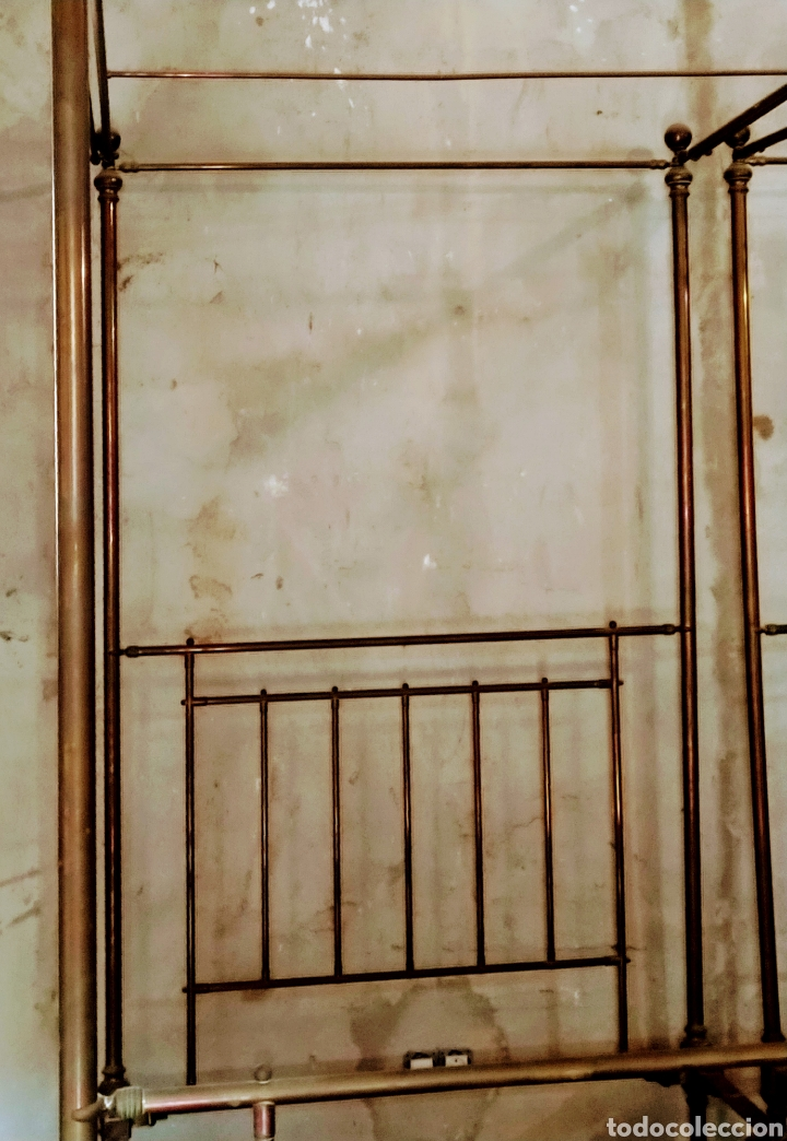 Antigüedades: Magnifica pareja de camas con dosel. Siglo XIX. - Foto 3 - 204625643