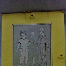 Antigüedades: PATRONES GRADUABLES MARTÍ .COMBINACIÓN PARA NIÑO/A. CON INSTRUCCIONES DE USO Y PLANCHA PATRONES. Lote 204630601