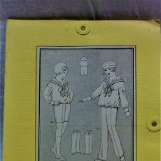 Antigüedades: PATRONES GRADUABLES MARTÍ.TRAJE MARINERO CON PANTALÓN LARGO/CORTO.INST DE USO Y 2 PLANCHAS PATRONES. Lote 204630840