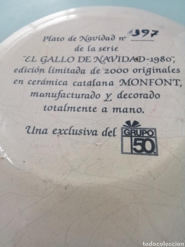 Antigüedades: PLATO DE NAVIDAD 1980 CERÁMICA CATALANA MONFONT. ED. LIMITADA. NUMERO 397. REALIZADO PINTADO A MANO - Foto 3 - 204645263