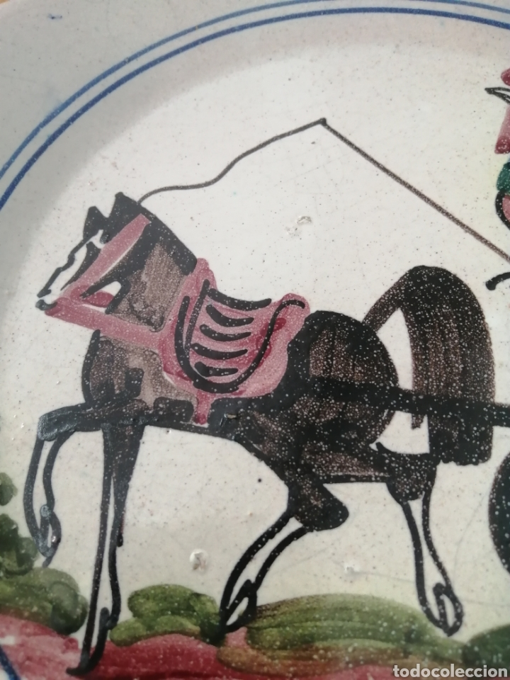 Antigüedades: PLATO DE NAVIDAD 1980 CERÁMICA CATALANA MONFONT. ED. LIMITADA. NUMERO 397. REALIZADO PINTADO A MANO - Foto 4 - 204645263
