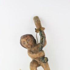 Antigüedades: NIÑO CON ANTORCHA. 33 CM ALTURA.. Lote 204649901