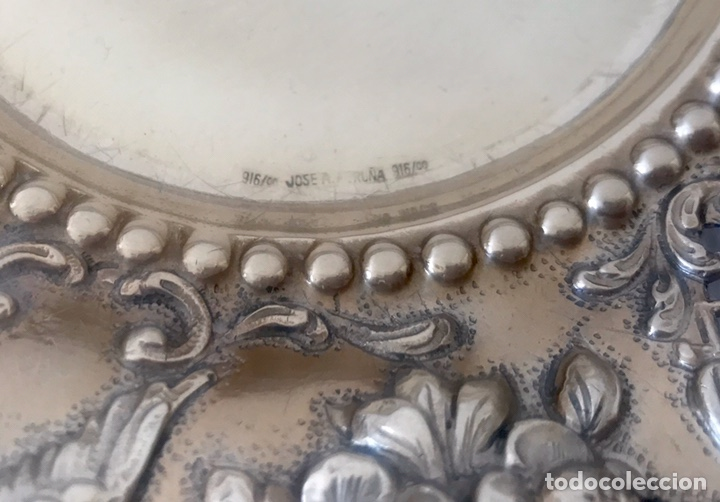 Antigüedades: Plato de plata 916 contrastada del platero Jose A. Agruña. Principios del siglo XX - Foto 3 - 204650225