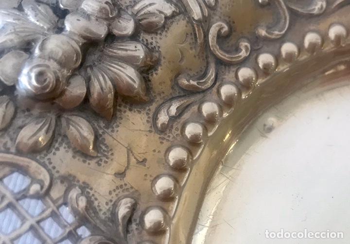 Antigüedades: Plato de plata 916 contrastada del platero Jose A. Agruña. Principios del siglo XX - Foto 4 - 204650225