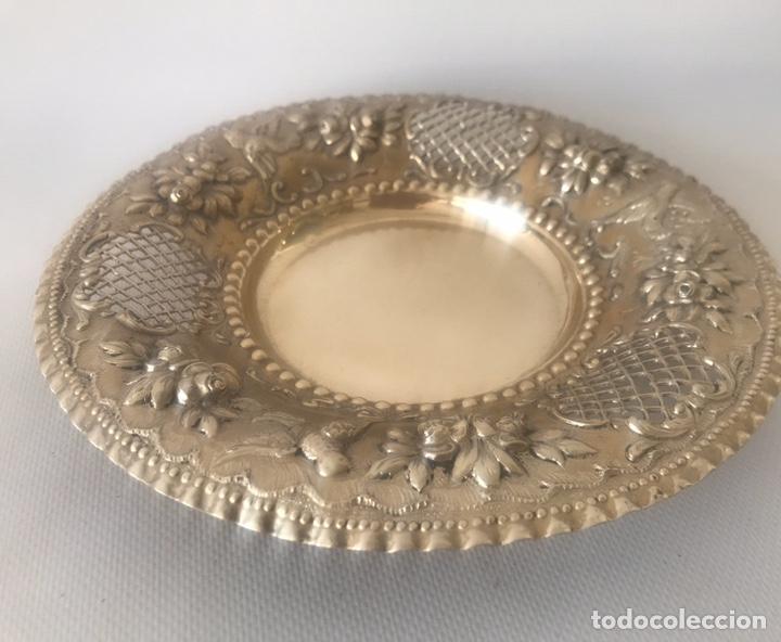 Antigüedades: Plato de plata 916 contrastada del platero Jose A. Agruña. Principios del siglo XX - Foto 5 - 204650225