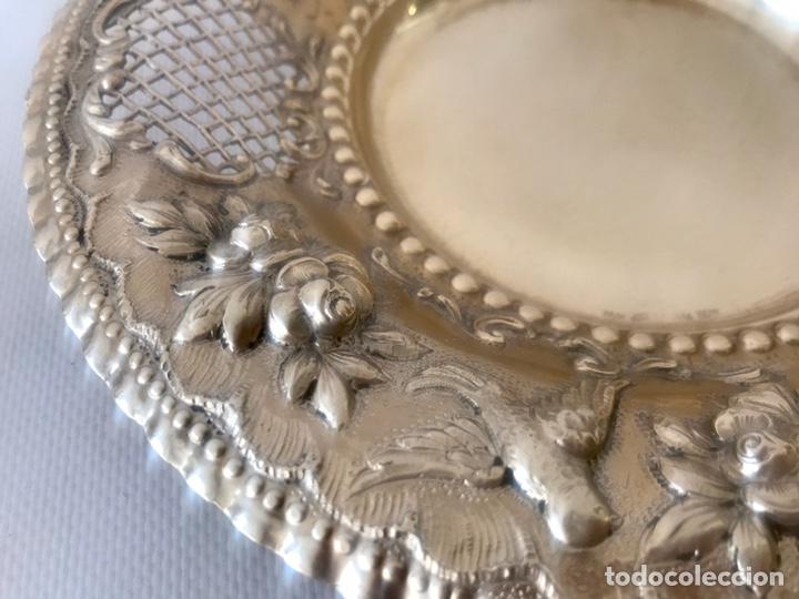 Antigüedades: Plato de plata 916 contrastada del platero Jose A. Agruña. Principios del siglo XX - Foto 7 - 204650225