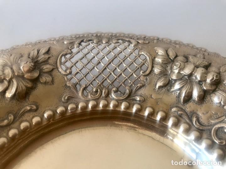 Antigüedades: Plato de plata 916 contrastada del platero Jose A. Agruña. Principios del siglo XX - Foto 8 - 204650225