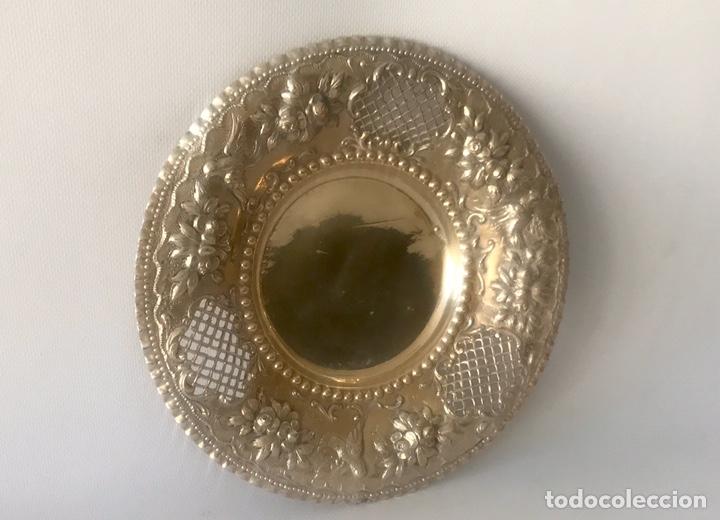 Antigüedades: Plato de plata 916 contrastada del platero Jose A. Agruña. Principios del siglo XX - Foto 10 - 204650225