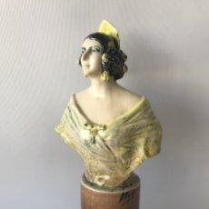 Antigüedades: BUSTO VALENCIANA. PEYRÓ, FIRMADO. BIEN CONSERVADO.. Lote 204651441