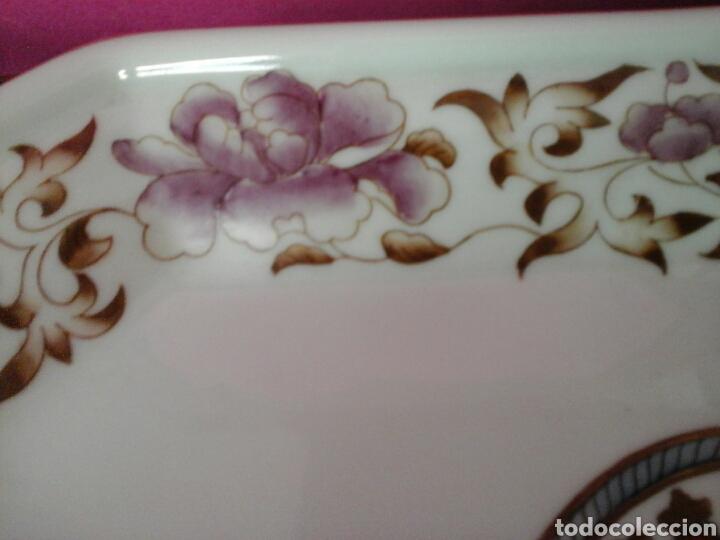 Antigüedades: Bandeja ochavada pintada a mano - Foto 3 - 204656488