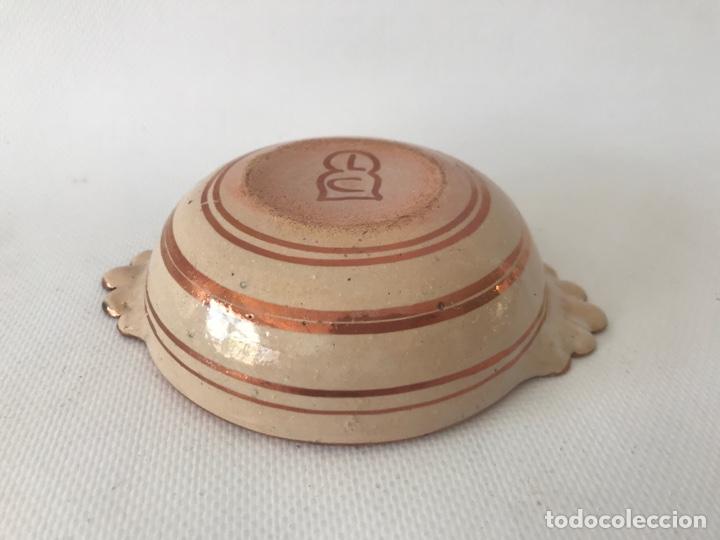 Antigüedades: Escudella valenciana de cerámica de reflejo metálico y azul cobalto. Fábrica La Ceramo. Años 20 - Foto 3 - 204659168