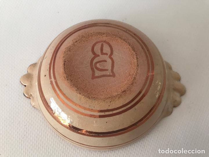 Antigüedades: Escudella valenciana de cerámica de reflejo metálico y azul cobalto. Fábrica La Ceramo. Años 20 - Foto 4 - 204659168