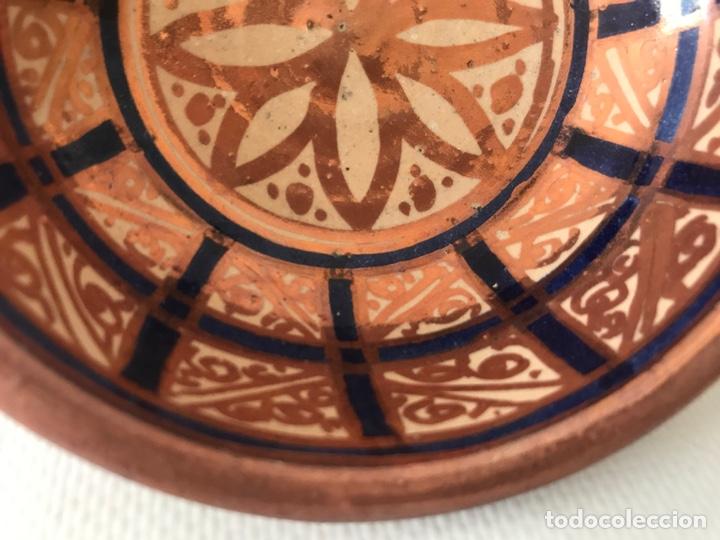 Antigüedades: Escudella valenciana de cerámica de reflejo metálico y azul cobalto. Fábrica La Ceramo. Años 20 - Foto 6 - 204659168