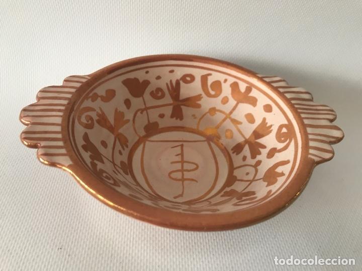 Antigüedades: Escudella valenciana de cerámica de reflejo metálico de la fábrica La Ceramo. Años 30. - Foto 3 - 204659788