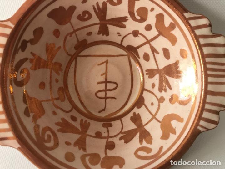 Antigüedades: Escudella valenciana de cerámica de reflejo metálico de la fábrica La Ceramo. Años 30. - Foto 5 - 204659788