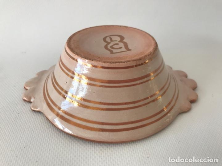 Antigüedades: Escudella valenciana de cerámica de reflejo metálico de la fábrica La Ceramo. Años 30. - Foto 8 - 204659788