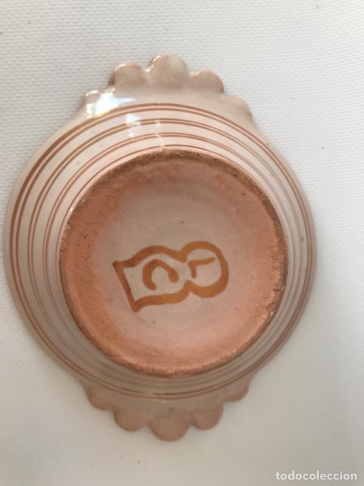 Antigüedades: Escudella valenciana de cerámica de reflejo metálico de la fábrica La Ceramo. Años 30. - Foto 9 - 204659788