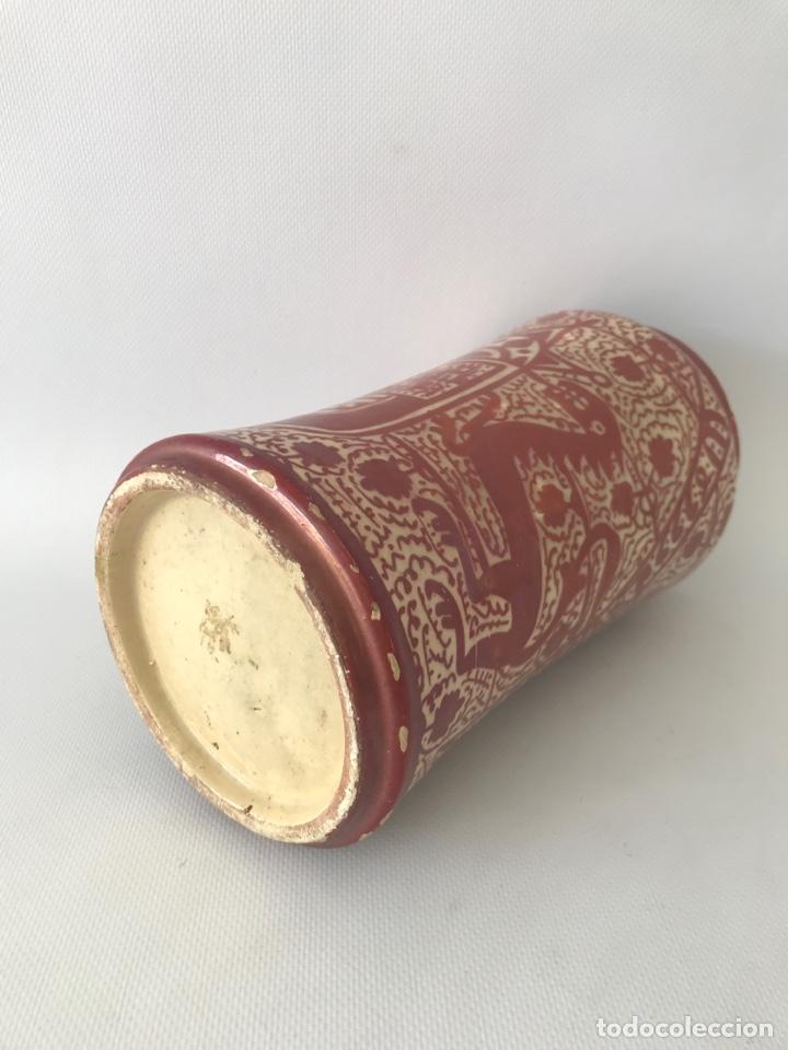 Antigüedades: Albarelo de reflejo metálico de Manises, con escudo. Primera mitad del siglo XX - Foto 6 - 204662926