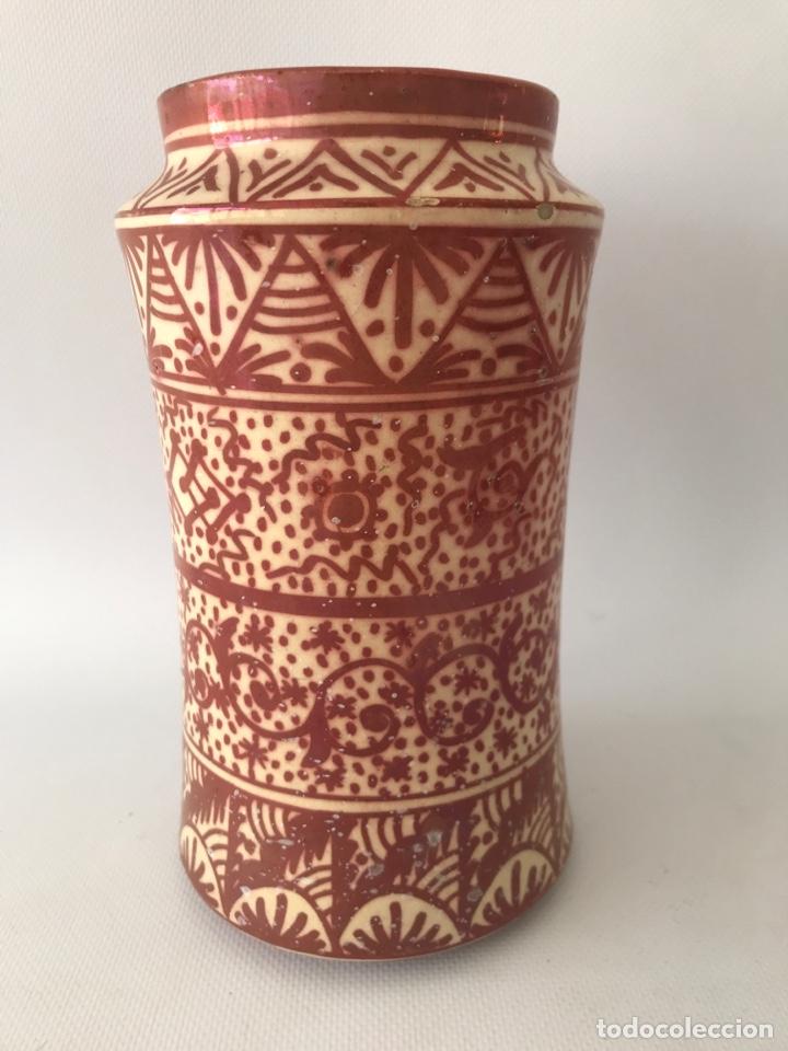 ALBARELO DE REFLEJO METÁLICO DE MANISES, VALENCIA. PRIMERA MITAD DEL SIGLO XX (Antigüedades - Porcelanas y Cerámicas - Manises)
