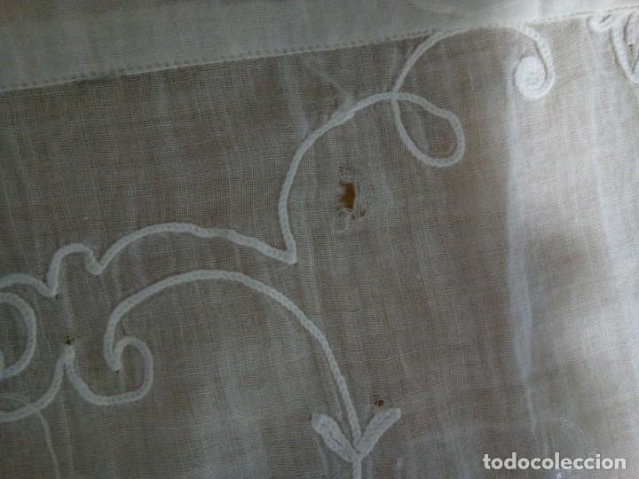 Antigüedades: * CORTINA DE MUSELINA .BORDADO BOBINÉ. 75 CM. (Rf: 46/*) - Foto 4 - 204718142