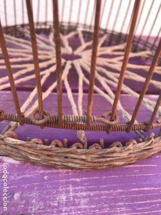 Antigüedades: Jaula artesanal para perdigón - Foto 2 - 204720677