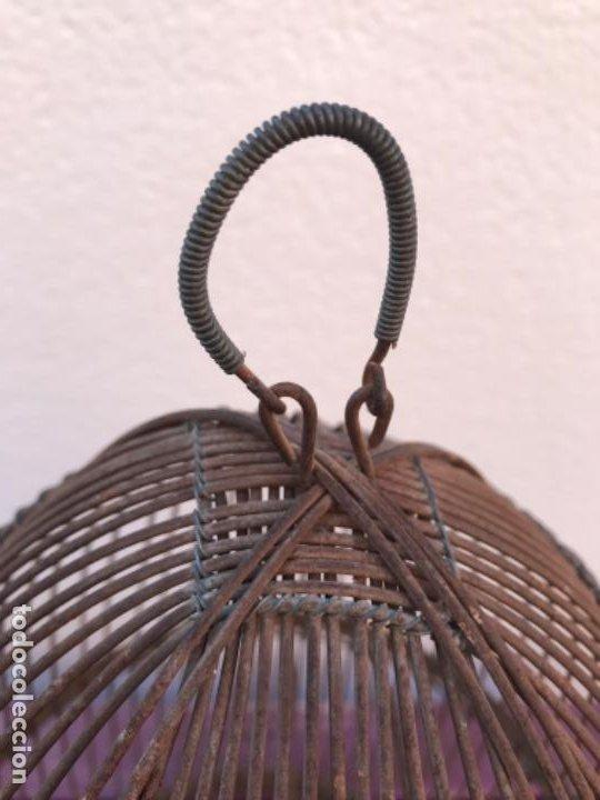 Antigüedades: Jaula artesanal para perdigón - Foto 4 - 204720677