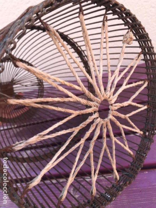 Antigüedades: Jaula artesanal para perdigón - Foto 5 - 204720677