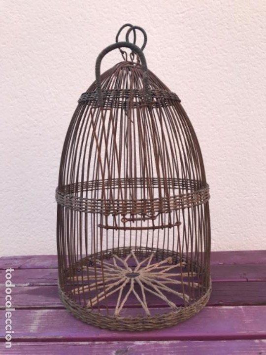 Antigüedades: Jaula artesanal para perdigón - Foto 6 - 204720677