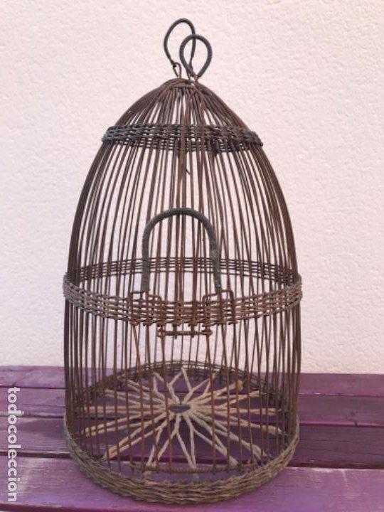 Antigüedades: Jaula artesanal para perdigón - Foto 7 - 204720677