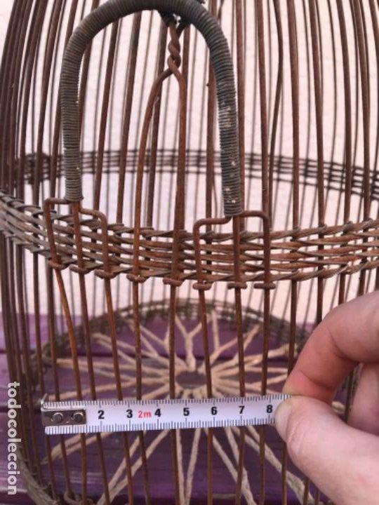 Antigüedades: Jaula artesanal para perdigón - Foto 9 - 204720677